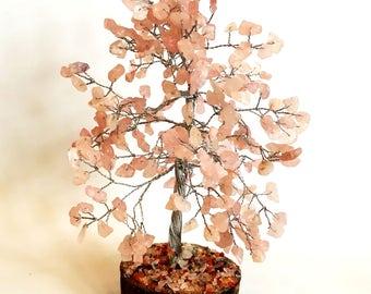 Rose Quartz 300 X Gemstones Crystal Tree Gift