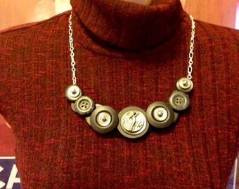 Golfers Delight Button Necklace