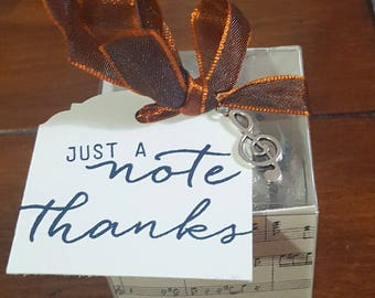 Musical Themed Favor Boxes