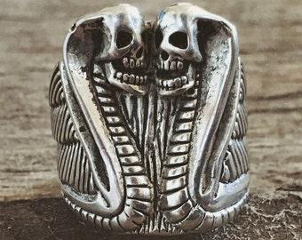 Snake Eyes biker ring