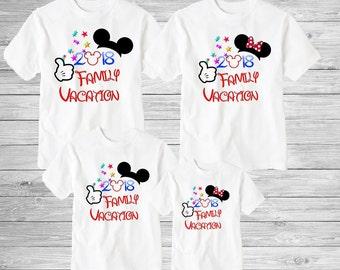 Family disney world shirts 2018, Disney Family Shirts, Matching Family Disney Shirts, Personalized Disney Shirts for Family  2018 des41
