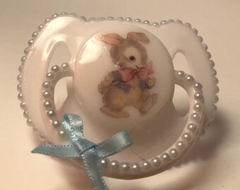 Boys vintage rabbit magnetic reborn doll dummy pacifier