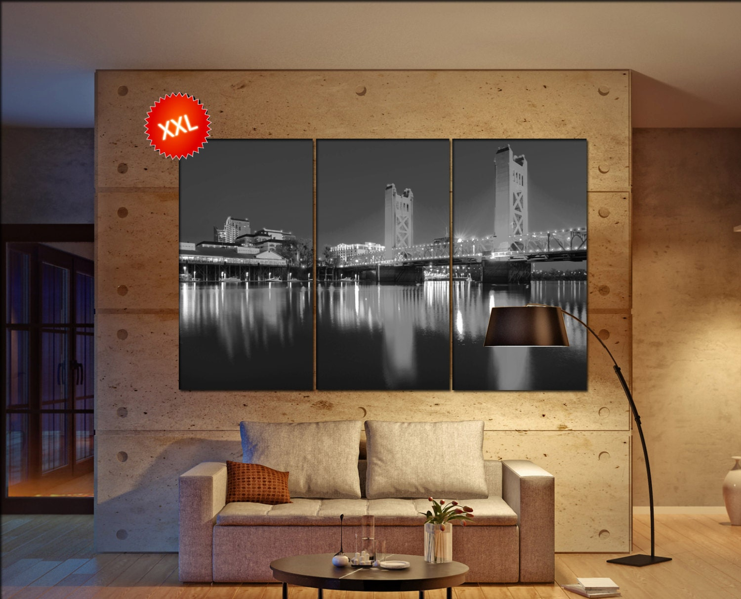 Sacramento Canvas Wall Art Skyline