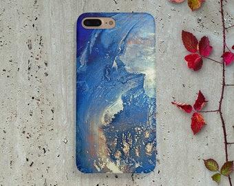 Blue gold old paint iPhone 6 case,iPhone 7 case,iPhone 6 plus case,iPhone 6 case,iPhone SE case,Samsung S8 S8 Plus S7 S7  S6 S5 J1 j2 j3 j5
