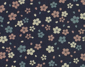Vintage Flowers Floral fabric from Sevenberry Fat Quarter