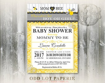 Mommy to bee invite etsy bee baby shower invitation mommy to bee printable shower invite bumble bee or honey bee gender neutral baby shower inivtation diy filmwisefo
