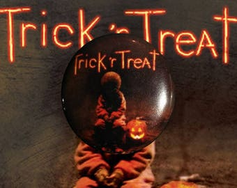 "H041 Trick 'r Treat 1"" Pinback Button Pin Cult Classic Horror Cinema Film Movie Sam Pumpkin Halloween"