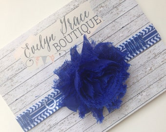 Indianapolis Colts Baby Indianapolis Colt Baby Colts Headband Colt Headband Baby Headband NFL Headband Flower Headband Baby Girl Bow