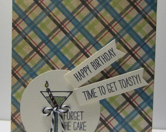 Plaid Forget the Cake Birthday Reminder Book