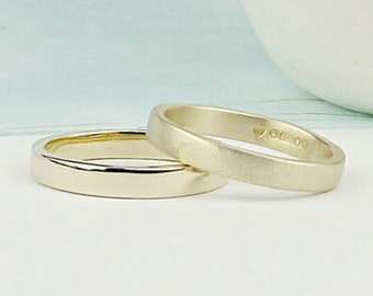 9ct Gold Wedding Ring - gold wedding band - wedding ring - wedding band-matte wedding band-matt wedding ring-silversynergy-simple gold ring