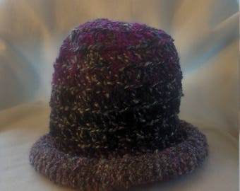 half price rolled brim hat in shades of purple