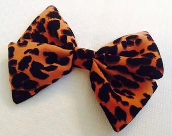 Leopard Print Hair Bow