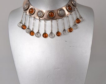 """Vintage choker necklace """"Dream from France"""", 1960s"""