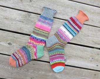 Hand Knit Socks Pale Tootsies