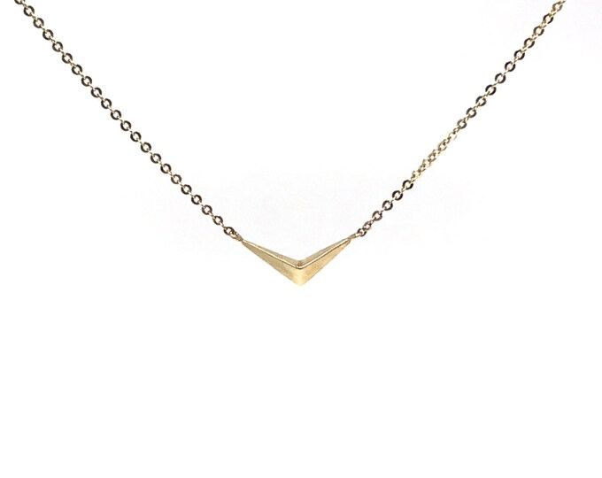 Gold Modern Wings Charm Necklace