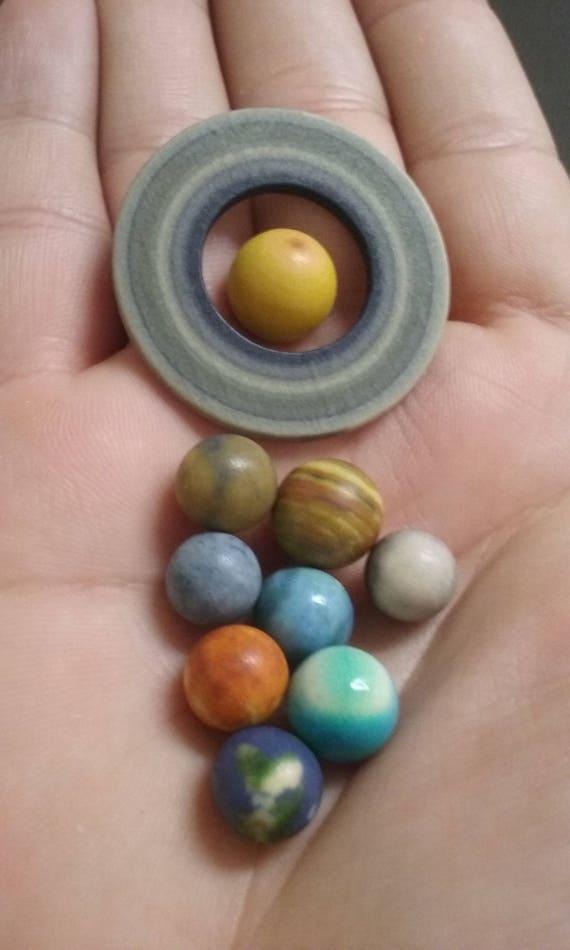 Model Solar System  9 Planets, 3D Printed Sandstone Polished set