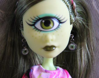 Eyeball Earrings for 1/6th Scale 11 1/2 - 12 inch 16 inch 17 inch Petite Slimline High Fashion Monster Dolls 4 Different Colors *See Note
