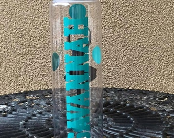Personalized Ballet Water Bottle- Ballerina water bottle, BPA free, dancer water bottle, Sport water bottle, bottle with name, custom bottle