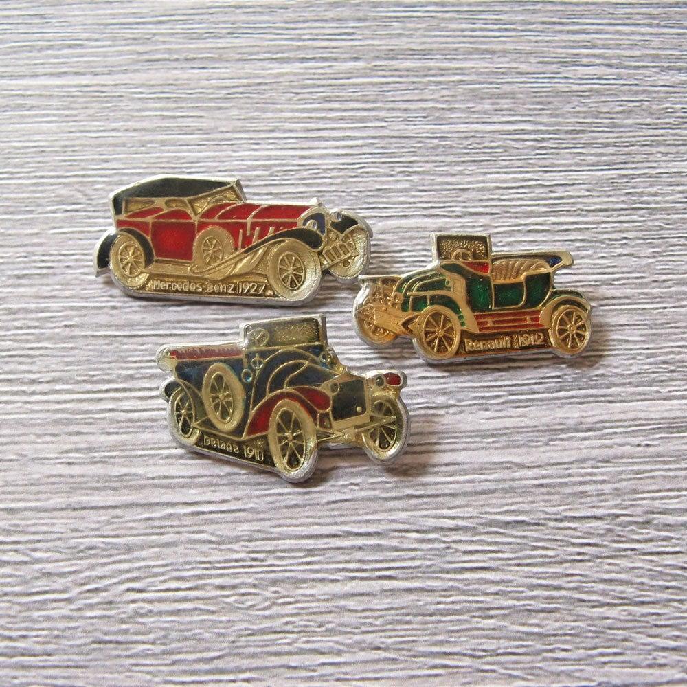 Retro Car Pins Vintage Cars Collection Retro Car Badge