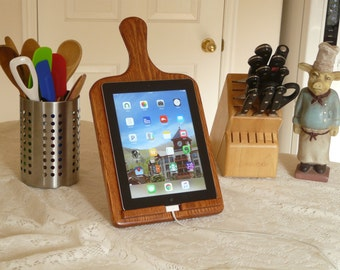 iPad Holder - Oak