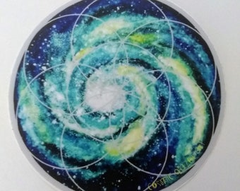 Spiral Galaxy with Seed of Life