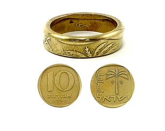 Elegant coin ring - one of a kind - charm ring - size  6 - 7 - 8 - 9  - 10