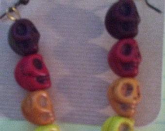 Dangle Skull Earrings