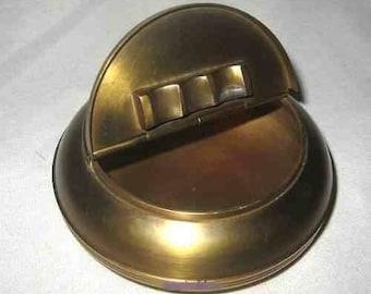 Folding antique Asian - matt brushed - brass 10 cm