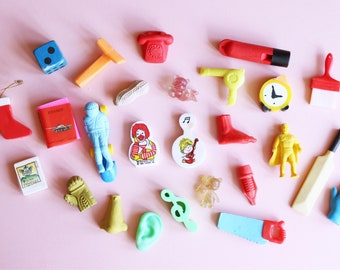 Fun Collection Of Vintage Collectible Erasers - Vintage Stationery
