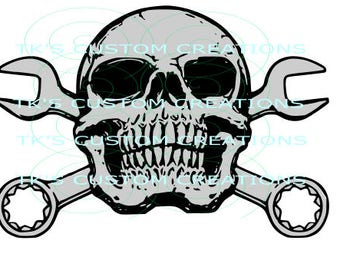 Turn Wrenches Skull