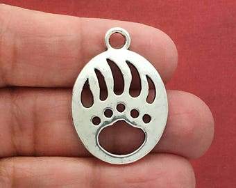 5 Silver Bear Claw Charm Pendant SP0085