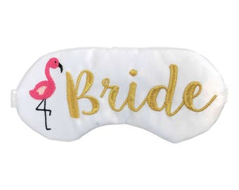The Original Palm Springs Before the Ring bachelorette party sleep mask favors with Flamingos
