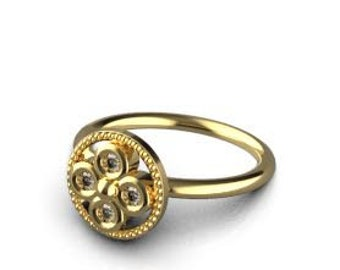 Beautiful gold ring for any occasion