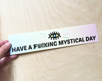 Mystical Day Bumper Sticker