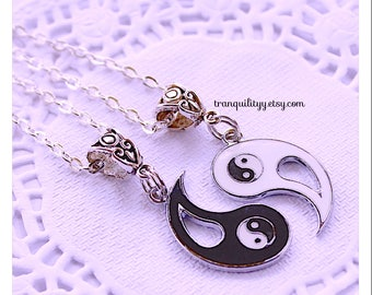 Yin Yang Necklace ,Beautiful  Yin Yang  , Charming Necklace, Multi Purpose Lovely Christmas and Birthday Gift ,By: Tranquilityy