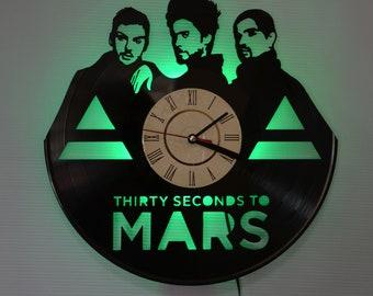 30 second to mars art decor, 30 second to mars wall clock, 30 second to mars Green led night light, 30 second to mars led lighting