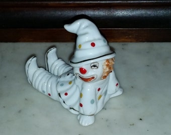Vintage Clown Figurine Bone China Piano Baby Style
