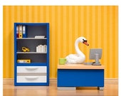 30% OFF SALE Office decor, unique office art, cubicle decoration: The Stay at Home Swan