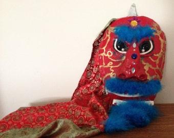 Hanging Ceramic Dragon Mask