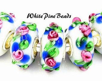 Murano Lampwork Handmade Glass Bead for European Style Bracelets European Charm Bracelets