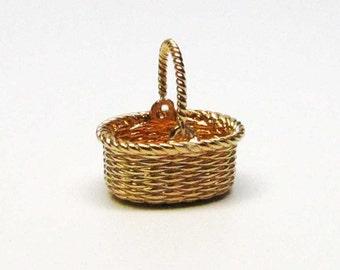 NANTUCKET BASKET, Baskets, Flower Basket, Basket Charm, Flower Girl, Flower Girl Gift, Basket Bracelet, Basket Necklace, Girlfriend Gift