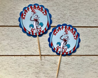 Dr.Seuss Cupcake Toppers