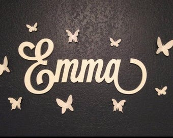 Nursery Name Sign for Baby Bedroom Wall Decor Wooden Letters Kids Baby Room Personalized Hanging Name Baby Shower Gift ANY SIZE
