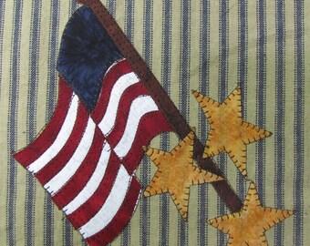 Flag That I Love Applique  PDF Pattern for Tea Towel