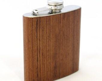 6oz Babinga Wood Flask Limited Edition
