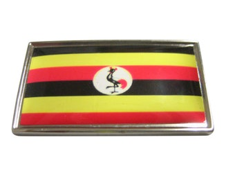 Thin Bordered Uganda Flag Magnet