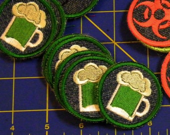 Green Beer  Iron on Patch / Merit Badge