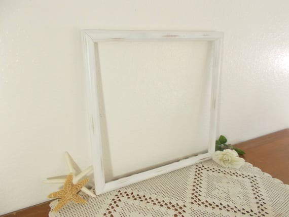 Large Rustic White Shabby Chic Distressed Picture Frame 16 x 16 ...