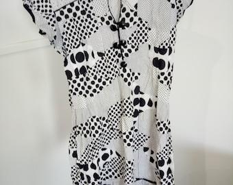 Unlabelled Black and White Polka Dot Dress