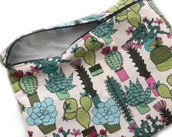 Wet Bag, Make up Bag, Multicolor Cactus